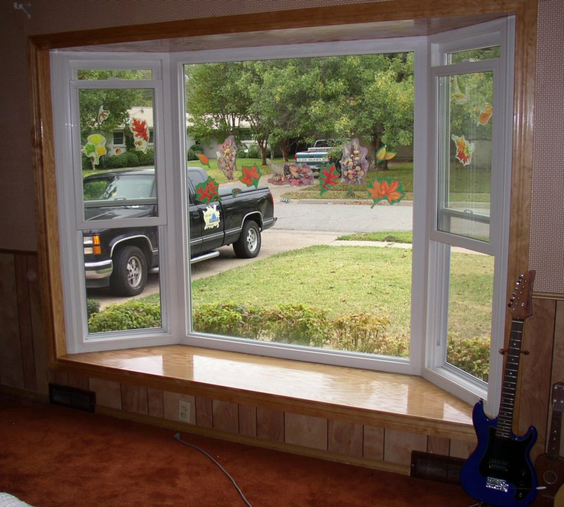Alside Bay Window Picture Window With Flanking Double
