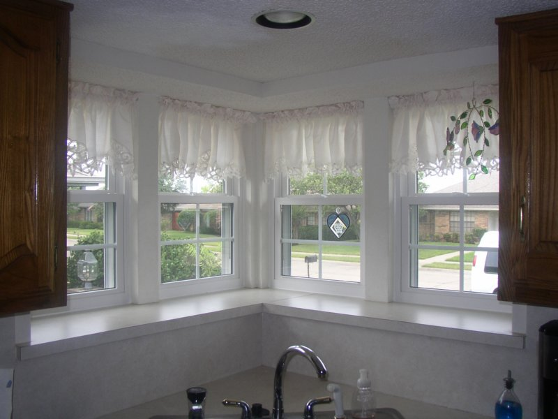 Double Hung Vinyl Windows Above The Kitchen Sink