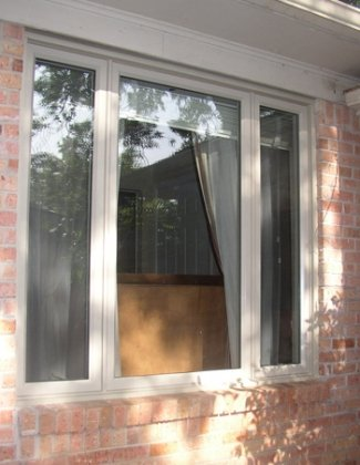 Replacement Windows. Dallas has many options including this beautiful casement style window