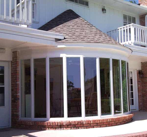 New vinyl windows can have narrow frames. Most cheap ones do but you can get them in a high quality vinyl window as well.