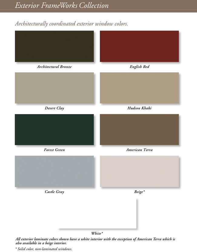 Vinyl Window Colors : Vinyl replacement window colors for dallas