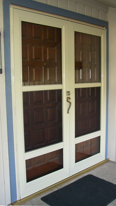Storm doors from the window connection dallas texas for Storm doors for double entry doors