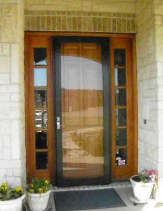 Tall storm doors can be tough to find.  We're proud to have full glass and operating storm doors that are the strongest in the nation