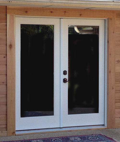 French doors exterior for Fiberglass double doors exterior