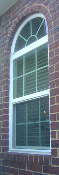 Vinyl circle top replacement windows in dallas for Best vinyl replacement windows